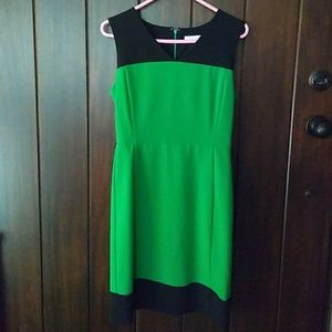 New York & Co. Kelly Green Black Sheath Dress